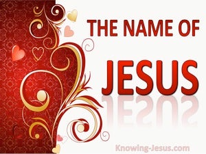 The Name of Jesus (devotional) (red) - Philippians 2:10