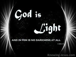 The Word Of Light (devotional) (black) - 1John 1:5