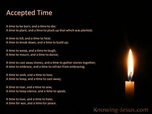 Today The Accepted Time (devotional) (black) - Ecclesiastes 3:2