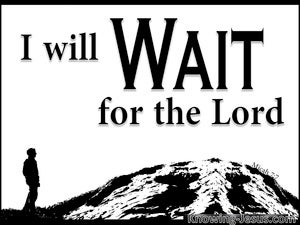 Wait Just Wait (devotional) - Micah 7:7