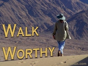 Walk Worthy (devotional) (brown) - Ephesians 4:1