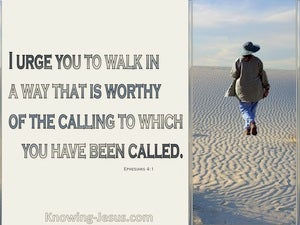 Walk Worthy (devotional) (beige) - Ephesians 4:1