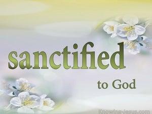 Romans 8:30 What About Sanctification (devotional)09:17 (white)