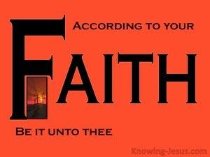 Matthew 8:13 What Faith (devotional)09:24 (black)