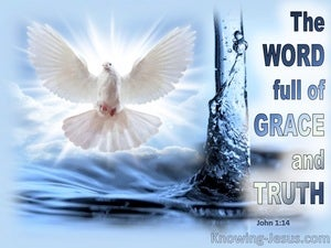 John 1:14 Full Of Grace And Truth (blue)