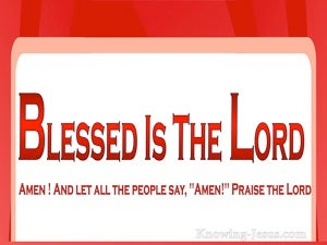 Psalm 106:48 Blesseds Is The Lord, Amen (red)