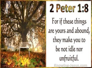 2 Peter 1:8 For If These Things Are Yours And Abound They Make You Not Be Idle Nor Unfruitful (utmost)05:12