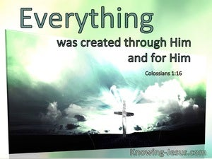 Colossians 1:16 Everything Was Created Through Him And For Him (windows)01:10