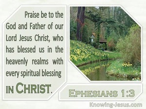 Ephesians 1:3 Praise Be To The God And Father Of Our Lord Jesus Christ (windows)08:12
