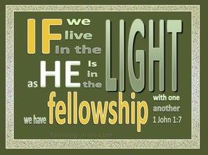 1 John 1:7 Walk In The Light (green)
