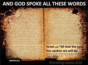 Exodus 20:1 And All That God Spoke We Will Do (black)