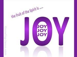 Galatians 5:22 Fruit of the Spirit is Joy (purple)