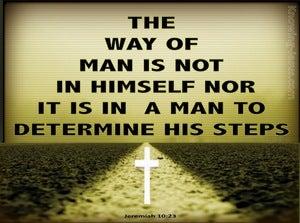 Jeremiah 10:23 The Way Of A Man (sage)