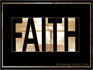 Hebrews 11:1 Faith (black)