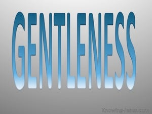 Galatians 5:22 Fruit Of The Spirit Is Gentleness (blue)