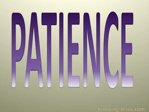 Galatians 5:22 Fruit of the Spirit is Patience (purple)