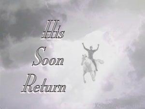 His Soon Return (devotional)  (gray) - Revelation 3:11