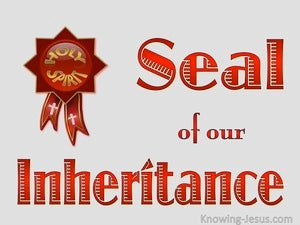Ephesians 1:14 Holy Spirit - Seal Of Our Inheritance (red)