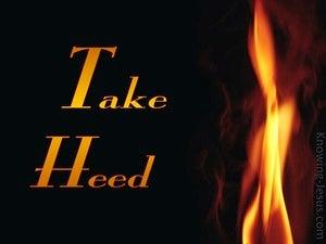 Take Heed (devotional)