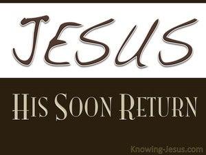 His Soon Return (devotional) (brown) - Revelation 22:12