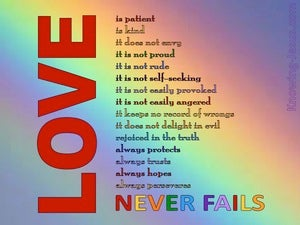 The Greatest Love (devotional) (red) - 1 Corinthians 13:8