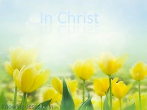 2 Corinthians 5:17 In Christ (yellow)