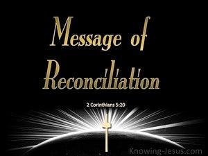 2 Corinthians 5:20 Message of Reconciliation (gold)