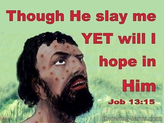 Job 13:15 Though He Slay Me I Will Trust Him (red)