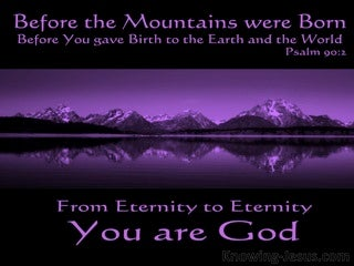 Psalm 90:2 From Everlasting You Are God (black)