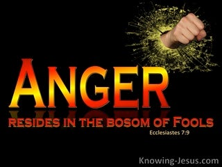 Ecclesiastes 7:9 Anger Resides In The Bosom Of Fools (red)