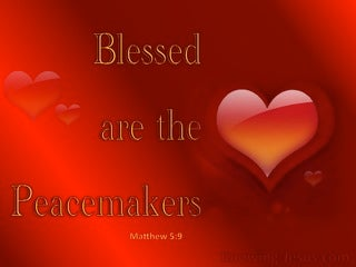 Matthew 5:9 Blessed Are The Peacemakers (red)