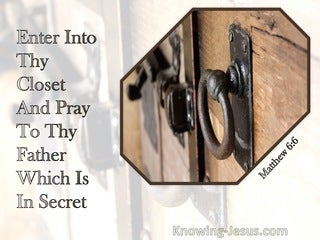 Matthew 6:6 When Thou Hast Shut Thy Door, Pray To Thy Father Which Is In Secret (beige)