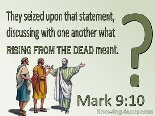 Mark 9:10 They Discussed What Rising From The Dead Meant (green)