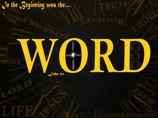 John 1:1 In The Beginning Was The Word (gold)