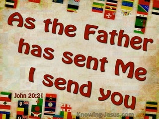 John 20:21 As The Father Send Me I Send You (beige)