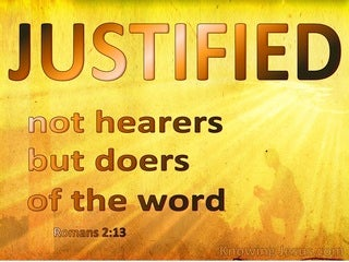 Romans 2:13 Not Hearers But Doers Of The Word (brown)