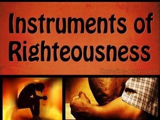 Romans 6:13 Instruments Of Righteousness (orange)
