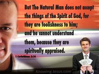 1 Corinthians 2:14 The Natural Man Does Not Discern (orange)