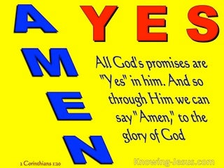2 Corinthians 1:20 Yes In Him And Amen (yellow)