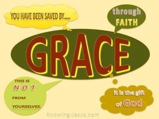 Ephesians 2:8 Saved By Grace Through Faith (yellow)