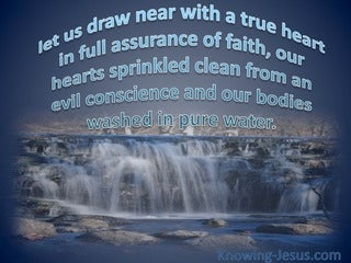 Hebrews 10:22 Draw Near To God (blue)