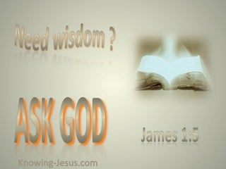 James 1:5 Seek Wisdom Ask God (beige)