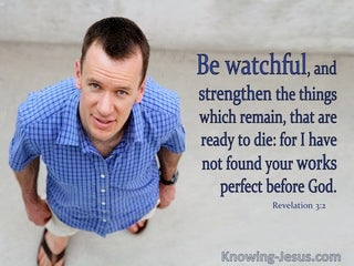 Revelation 3:2 Be Watchful (blue)