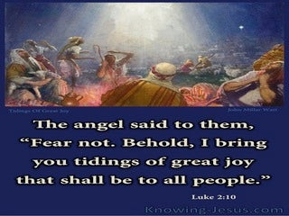 Luke 2:10 Message of Great Joy (devotional)08:27 (navy)