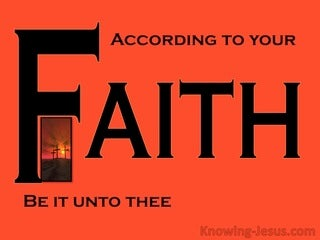 Matthew 8:13 What Faith (devotional)09:24 (black)