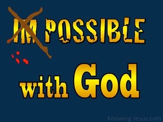 Matthew 19:26 All Things Are Possible With God (yellow)