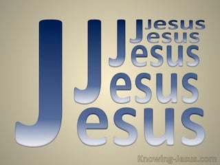 JESUS - Name Above All (blue)