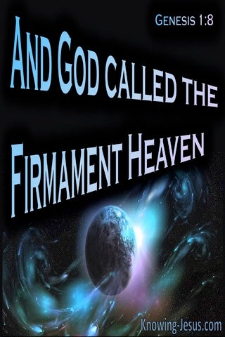 Genesis 1:8 God Called The Firmament, Heaven (black)