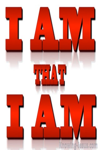 Exodus 3:14 I AM that I AM (red)