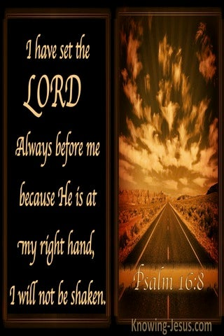 Psalm 16:8 The Lord Is Before Me (brown)
